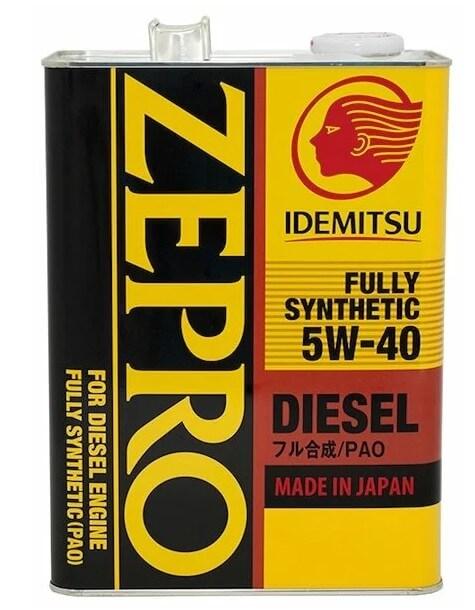 масло IDEMITSU Zepro Diesel 5W-40 4 л