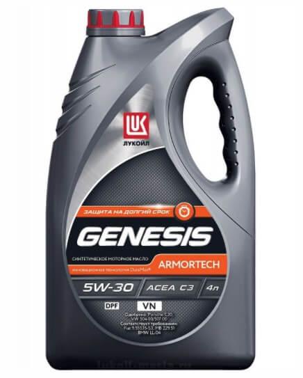 масло ЛУКОЙЛ Genesis Armortech VN 5W-30 4 л