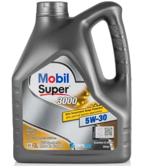 масло MOBIL Super 3000 XE 5W-30 4 л