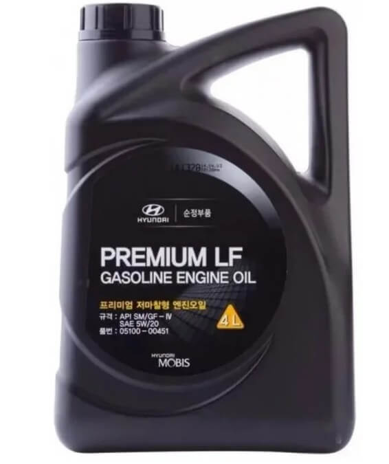 масло MOBIS Premium LF Gasoline 5W-20 4 л