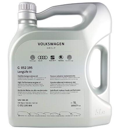 масло VOLKSWAGEN LongLife III 5W-30 5 л (G052195M4)