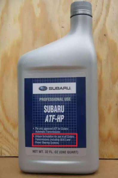 масло Subaru ATF-HP для АКПП и ГУР, 946 мл