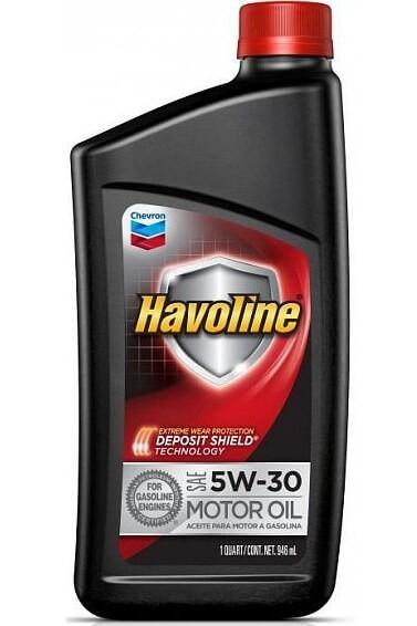 масло CHEVRON Havoline Motor Oil SAE 5w-30, 0,946 л