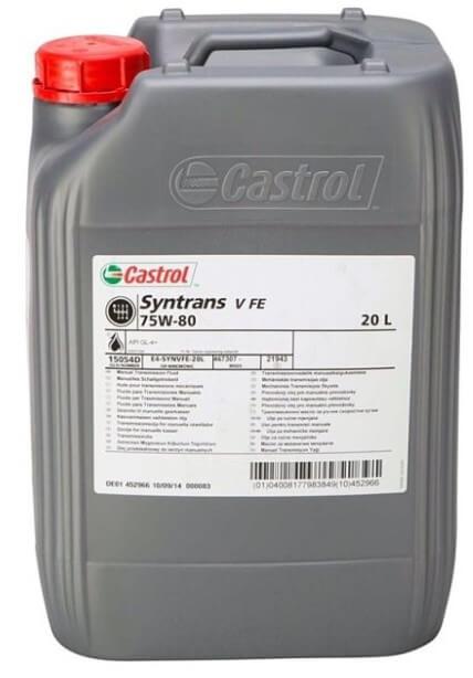 масло Castrol Syntrans V FE 75W-80, 20 л