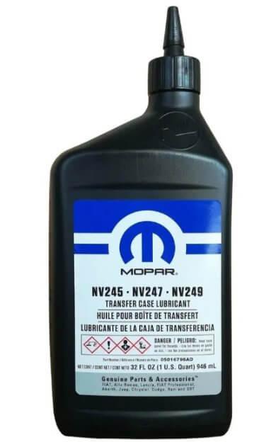 масло Mopar TRANSFER CASE LUBRICANT NV 245-NV 247-NV 249, 0,946 л