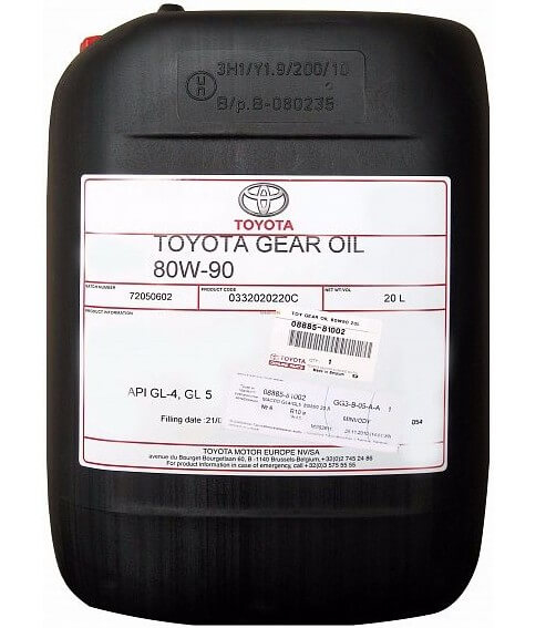 масло TOYOTA Gear oil 80W-90 GL-4, GL-5, 20 л