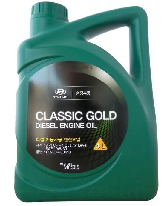 Моторное масло MOBIS Classic Gold Diesel 10W-30 4 л