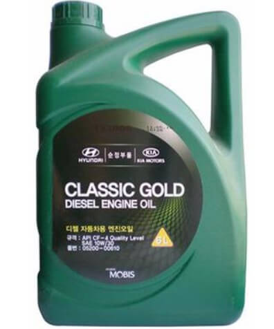 Масло HYUNDAI/KIA Classic Gold Diesel Engine Oil 10W-30 CF-4, 6 л