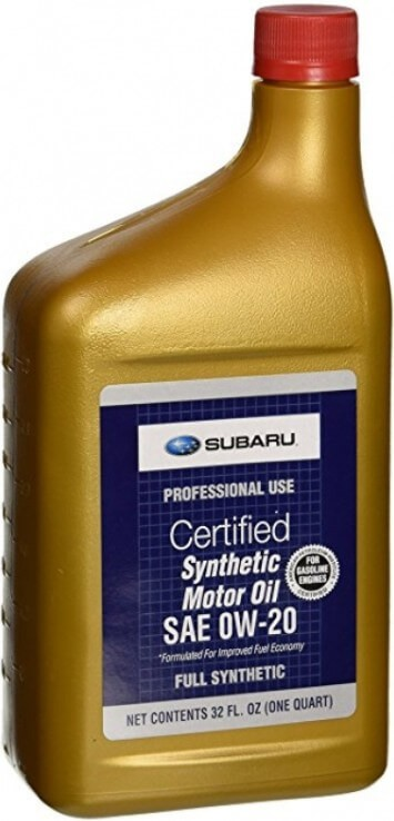 Масло SUBARU Motor Oil 0W-20 Synthetic US, 0,946 л