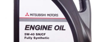 Моторное масло MITSUBISHI Genuine Oil 5W-40 SN/CF