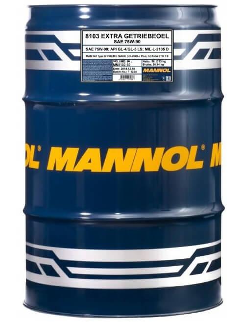 масло Mannol Extra Getriebeoel 75W-90, 60 л