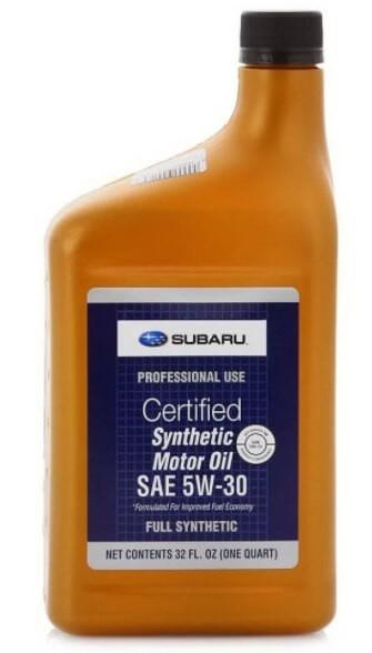 моторное масло SUBARU SN 5W-30 (пластик) 0.946 л
