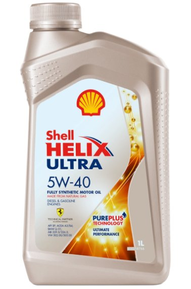 масло Shell Helix Ultra 5W-40 SP, 1 л