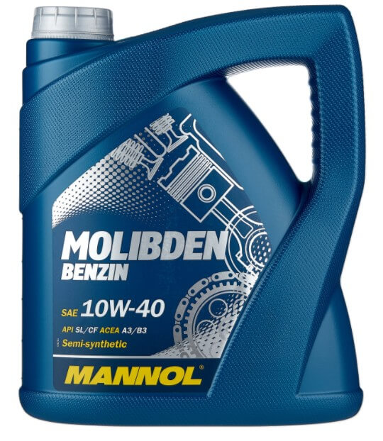 моторное масло Mannol Molibden Benzin 10W-40, 4 л
