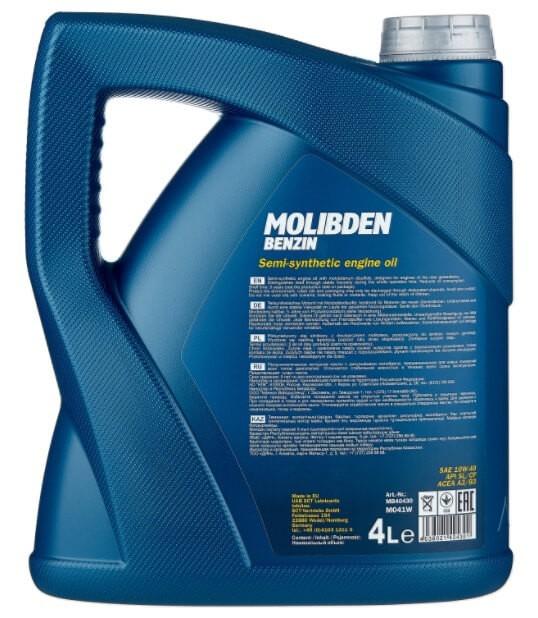 моторное масло Mannol Molibden Benzin 10W-40