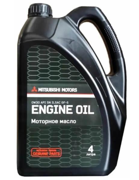 моторное масло Mitsubishi SAE 0W-30 API SN, 4 л
