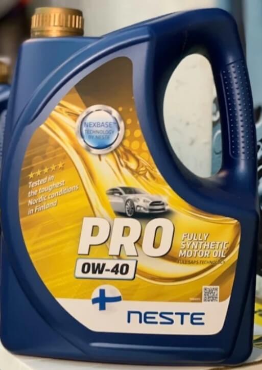 Синтетическое масло Neste Pro 0W-40