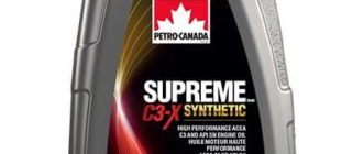 моторное масло Petro-Canada Supreme C3-X Synthetic 5W-30 1 л