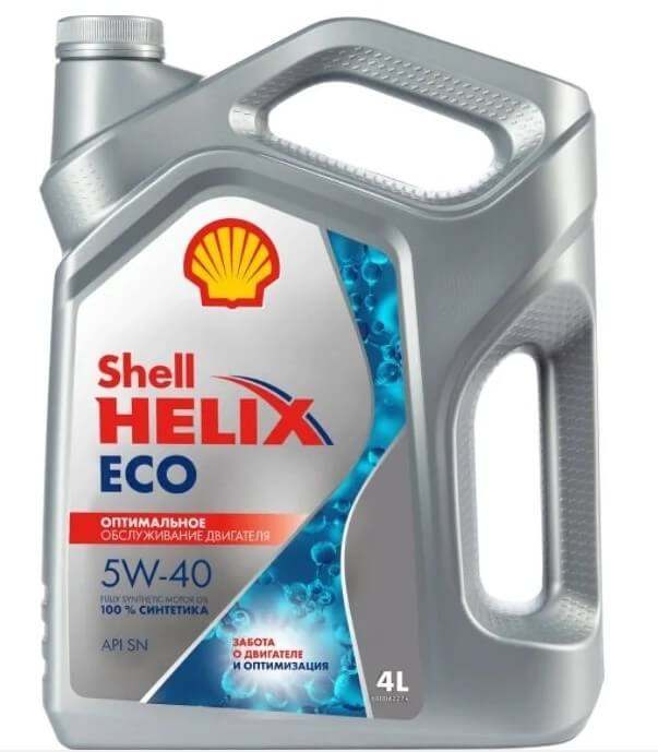 моторное масло SHELL Helix ECO 5W-40 4 л