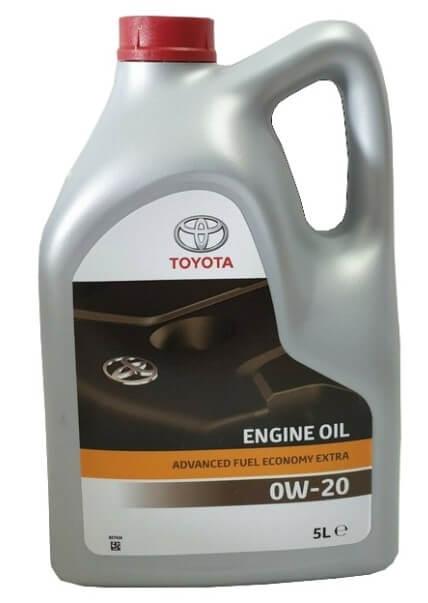 моторное масло TOYOTA Advanced Fuel Economy Extra 0W-20 5 л