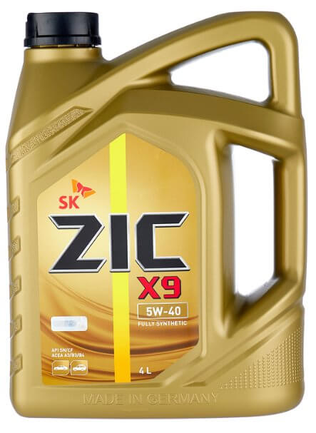 моторное масло ZIC X9 5W-40 4 л