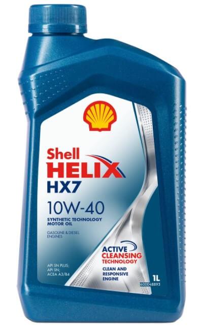 масло Shell Helix HX7 10W-40, полусинтетическое, 1 л