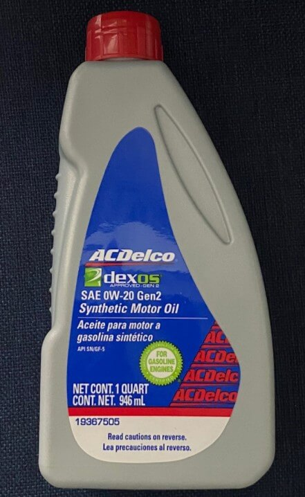 моторное масло ACDelco Dexos-1 Gen-2 0W-20