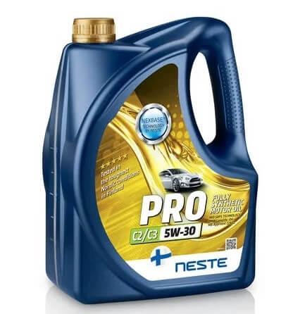 моторное масло Neste Pro C2C3 5W-30, 4 л