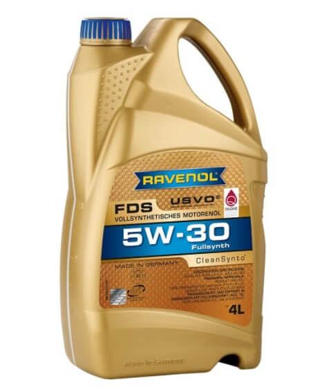 моторное масло Ravenol FDS SAE 5W-30, 4 л