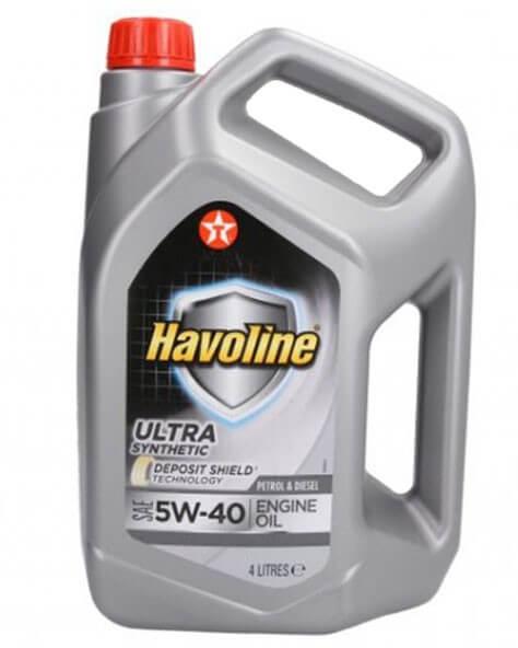 моторное масло TEXACO Havoline Ultra 5W-40, 4 л