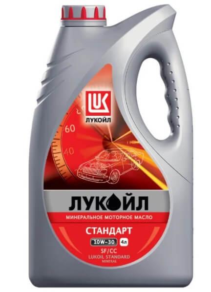 моторное масло ЛУКОЙЛ Стандарт SF/CC 10W-30, 4 л