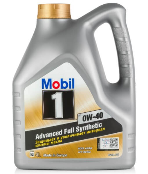 моторное масло MOBIL 1 FS 0W-40, 4 л