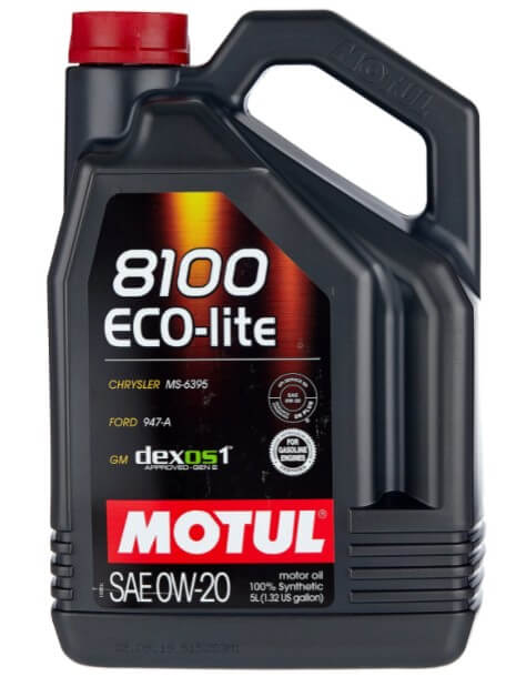 моторное масло Motul 8100 Eco-lite 0W20, 5 л