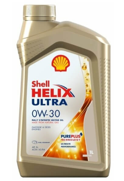 моторное масло SHELL Helix Ultra 0W-30, 1 л