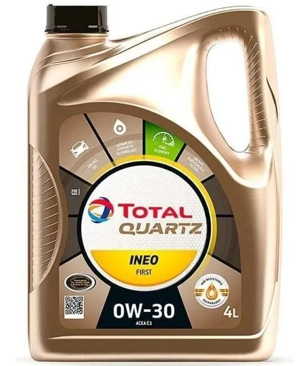 моторное масло TOTAL Quartz INEO First 0W30, 4 л