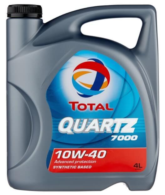 масло TOTAL Quartz 7000 10W40, 4 л