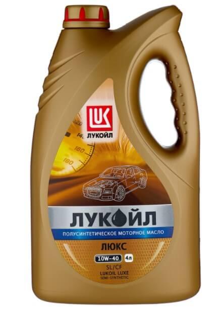 моторное масло ЛУКОЙЛ Люкс полусинтетическое SLCF 10W-40, 4 л